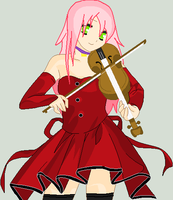Sakura Playing the Violin by KissyMissy-Tainted-K