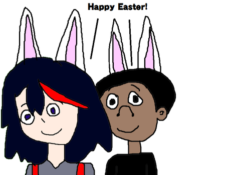 Stomedy and Ryuko Matoi - Happy Easter! by MikeEddyAdmirer89