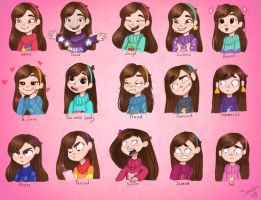 Mabel's face expressions by SandraAleksandraN