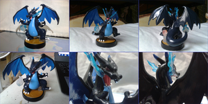 Mega Charizard X custom amiibo by Gregarlink10