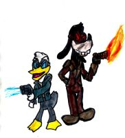 Donald Snart and Mick Goofy by SonicClone