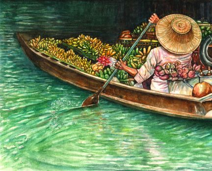 Thai floating market by thaomani