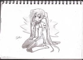 Re-Uploaded Nymph - Sora No Otoshimono Sketch by UnknownElements