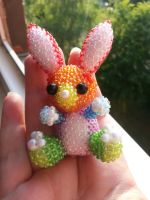 rainbow bunny by Karo1987
