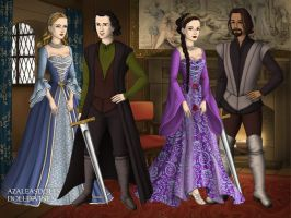 LotR characters by AslanDaughter