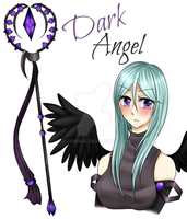 Sorano: -Dark Angel- Staff Design by BlackStarsShineToo