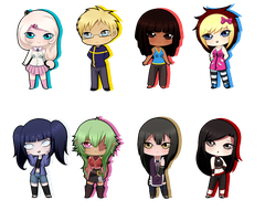 [Gifts] Christmas Chibis 3 by BubblesTea