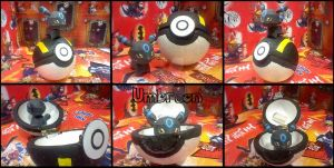 Umbreon chibi papercraft by DarkRockerRUS