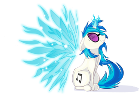 Angelic Wings Vinyl Scratch by FrenchyToastyy