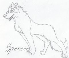 My Dog Spencer Sketch by Ookamiko