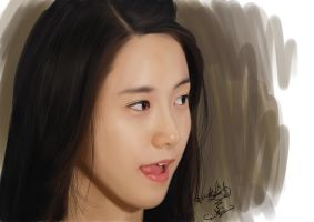 Painting SNSD Yoona by aimgallagher