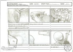 Pole Position Cartoon Storyboard, Missing 1-3 by vocaltaffy