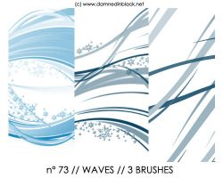 PHOTOSHOP BRUSHES : waves by darkmercy