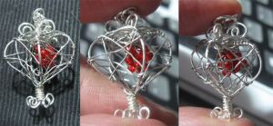 Silver Wire Heart by Maylar