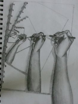 Hands Drawing by socalchika00