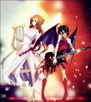 Angels and Demons by M-i-S-T-I-K-A