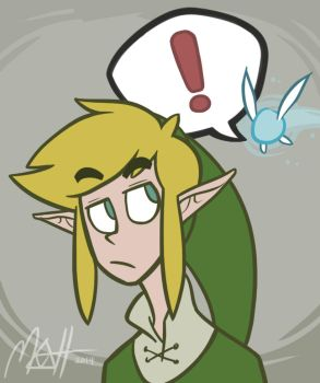 Link and Navi by colourmefred