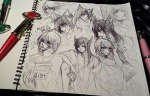 Tagged//Sketching with Sailor moon pen... by Ruriko-sama