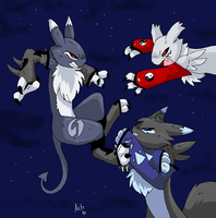 All Out fight by Ash-Dragon-wolf