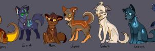 Planet Inspired Wolf adoptables! -CLOSED- by Kitchiki