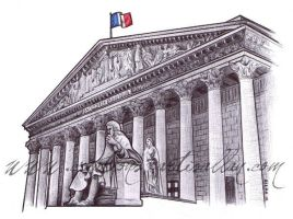 French National Assembly by ArtisAllan
