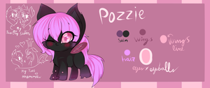 Pozzie the fluffle changeling princess by karsisMF97