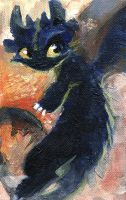 Toothless Speedpaint by OrcaOwl