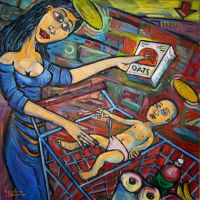 Madonna and Child with Quickoats by JohnPaulHunter