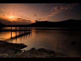 Sunrise Over Derwent Water by GMCPhotographics