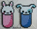 Cute Bunny and Puppy Erasers by PerlerPixie