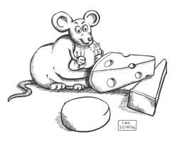 Inktober day 21 - Fat mouse by fragso