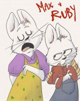 HEY ITS MAX AND RUBY by FailTaco