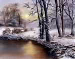 A River in Winter by darktiger17
