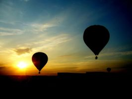 Hot air balloons . by non-such