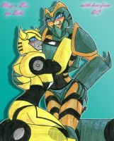 Giftart: Wasp and Bee by DCWyverx