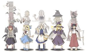 The Maid and The Little Girls of Gensokyo by void-contains-all