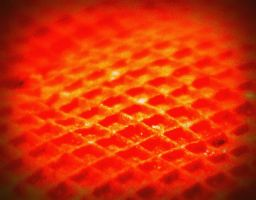 waffle texture in red by tiagopereiranene