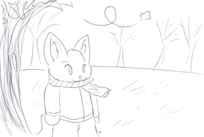 Fall -Muro sketch- by RikuBlindFox