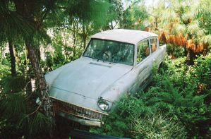 Crashed Ford Anglia by Marce07