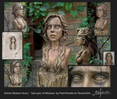 Emma Watson bust / Sad eyes of Medusa by PiotrHarold