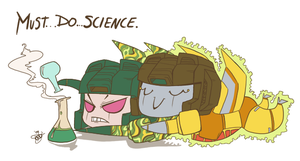 MUST...DO...SCIENCE. by Humblebot