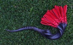 Horn and Bullhide Leather Flogger #153 2 by NaamahFeral