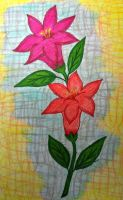 Flores - Desenho animado / Flowers - Cartoon by Tex-And-Tathy
