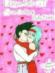Goten and Bulla Kiss Colored by burafanclub