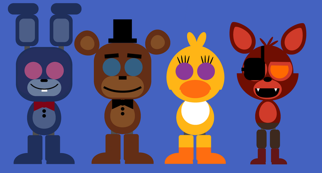 Repaired Withered Animatronics Minimalistic Style by Fran4444YT