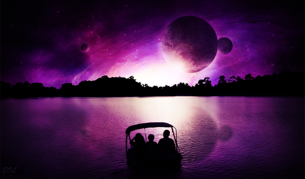 Boat to the Stars by ennovus