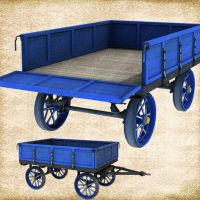 Shiny New Wagon Bule by Just-A-Little-Knotty