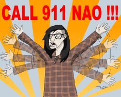 skrillex CALL 911 NAO by cityinthehead