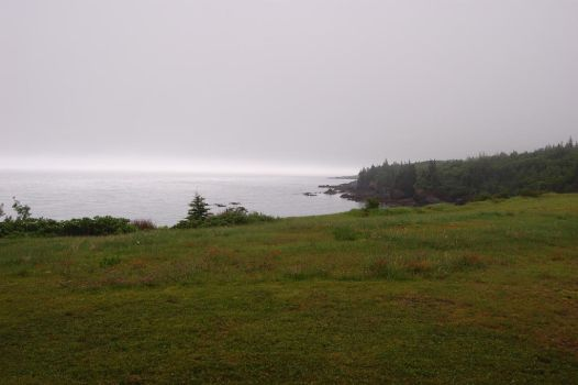 Foggy Day: Cove View 1 by angelaiko