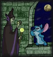 Maleficent and Stitch by andy-pants